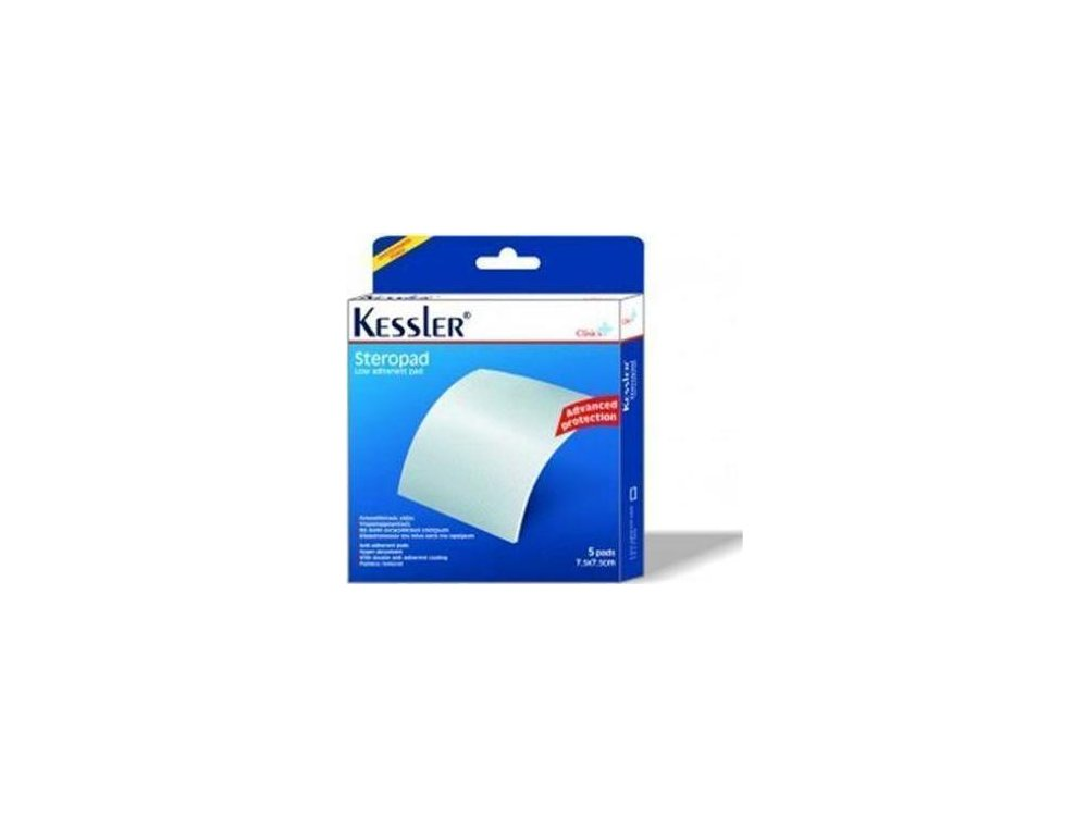 Kessler Steropad Αντικολλητικές γάζες 7.5cmx7.5cm, 5τμχ