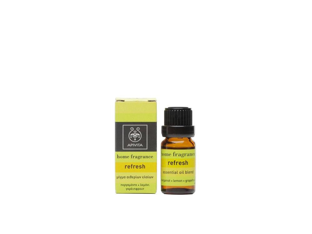 Αpivita Βιολογικό Αιθέριο Έλαιο Refresh - Μίγμα Από Περγαμόντο Λεμόνι Γκρέιπφρουτ 10ml
