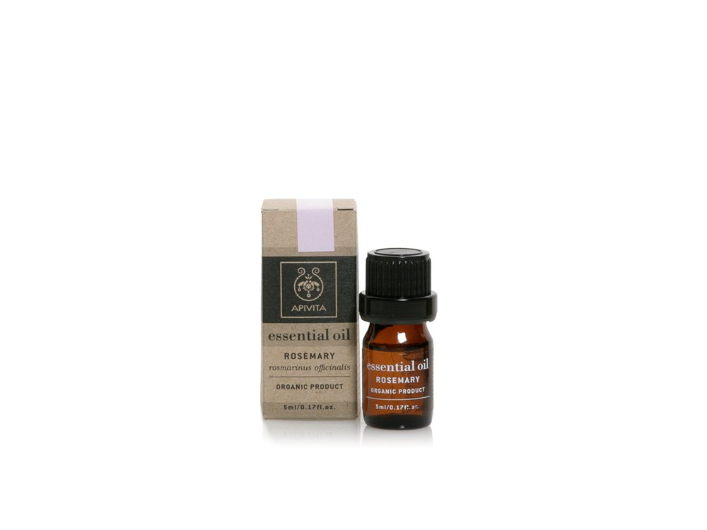 Apivita Essential Oil Rosemary 100% Βιολογικό Αιθέριο Έλαιο Δεντρολίβανο, 5ml