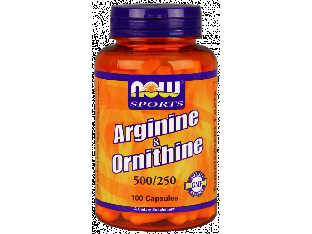 Now Sports Arginine & Ornithine 500/250mg 100caps