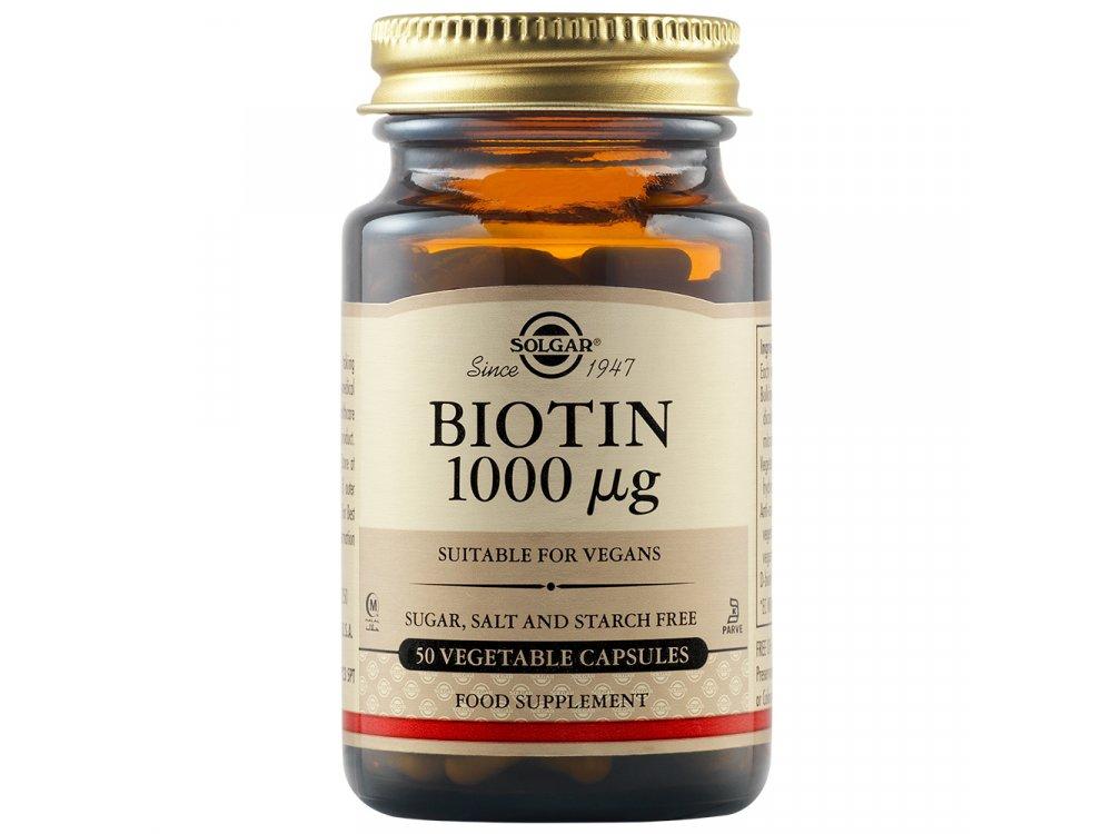 Solgar Biotin 1000mg 50Vegs.Caps
