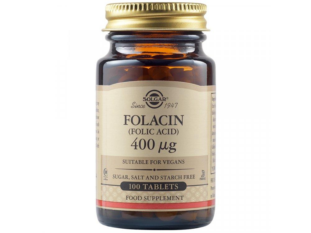 Solgar Folic Acid (Folacin) 400mg  100tabs