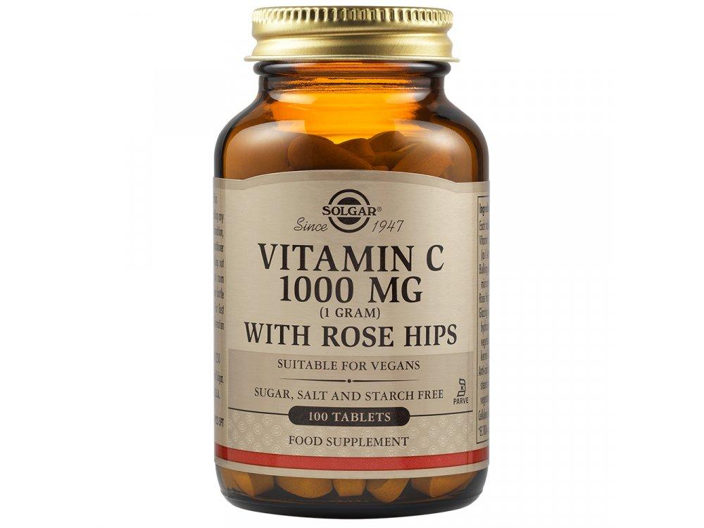 Solgar Rose Hips C 1000mg 100tabs