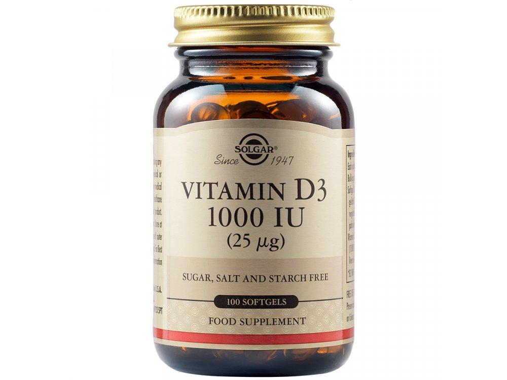 Solgar Vitamin D-3 1000 IU 100softgels