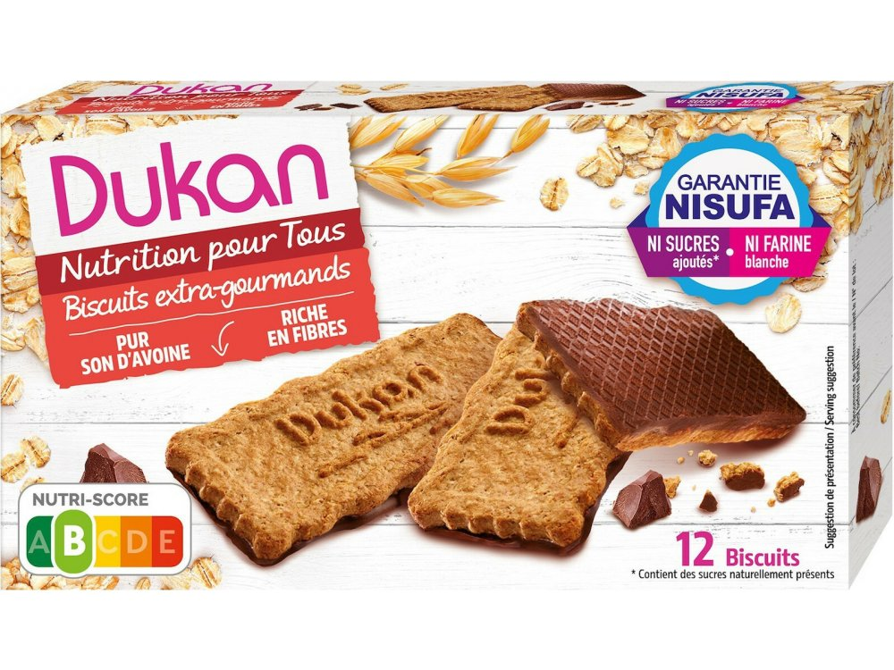 Dukan Μπισκότα Βρώμης με Επικάλυψη Σοκολάτας, 4τμχ 200gr