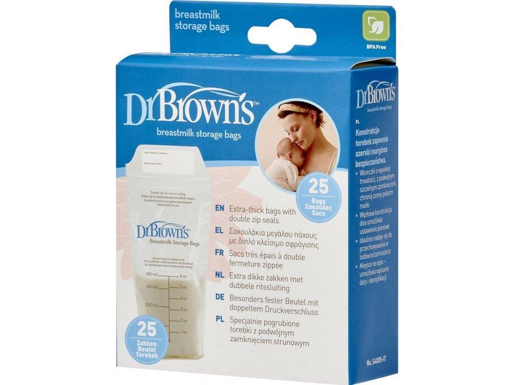 Dr. Brown's Σακουλάκια φύλαξης Μητρικού γάλακτος, 25τμχ, S4005