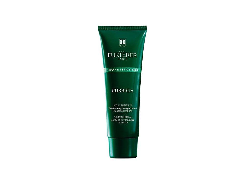 Rene Furterer Curbicia, Σαμπουάν - Μάσκα καθαρισμού για Λιπαρά Μαλλιά με Απορροφητική Άργιλο, 250ml