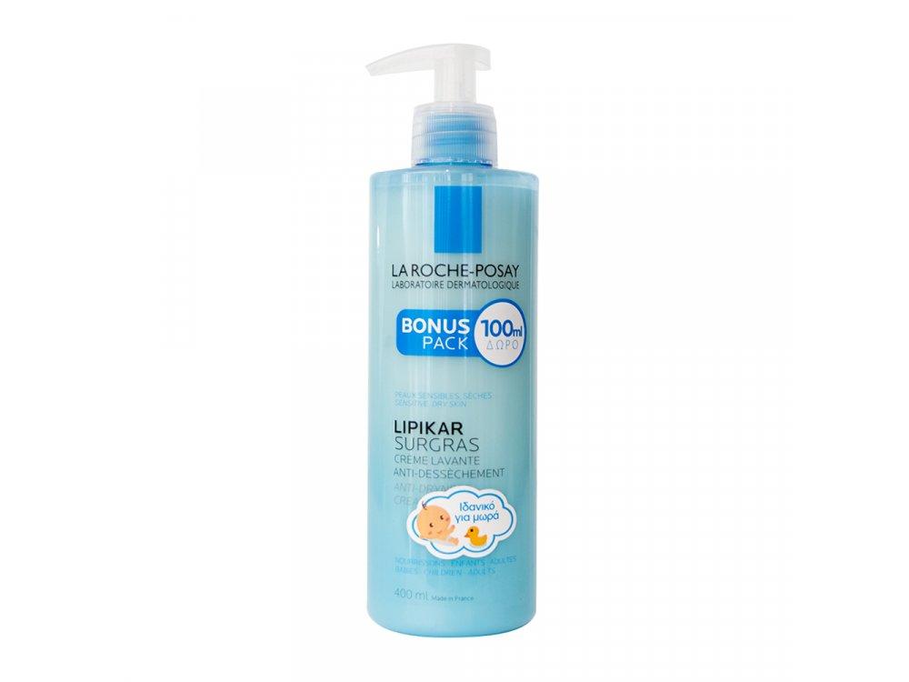 La Roche Posay Lipikar Surgras Liquide, Κρέμα για Ντουζ, Αναπλήρωση Λιπιδίων, Κατά της Ξηρότητας, 400ml