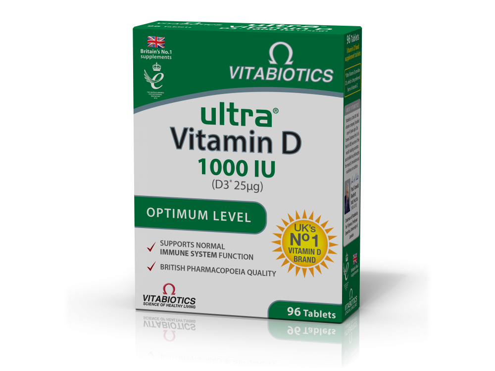Vitabiotics Ultra® Vitamin D3 Tablets 1000 iu 96tabs