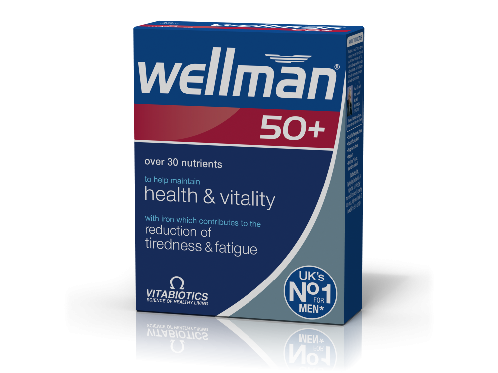 Vitabiotics Wellman® 50+ 30tabs
