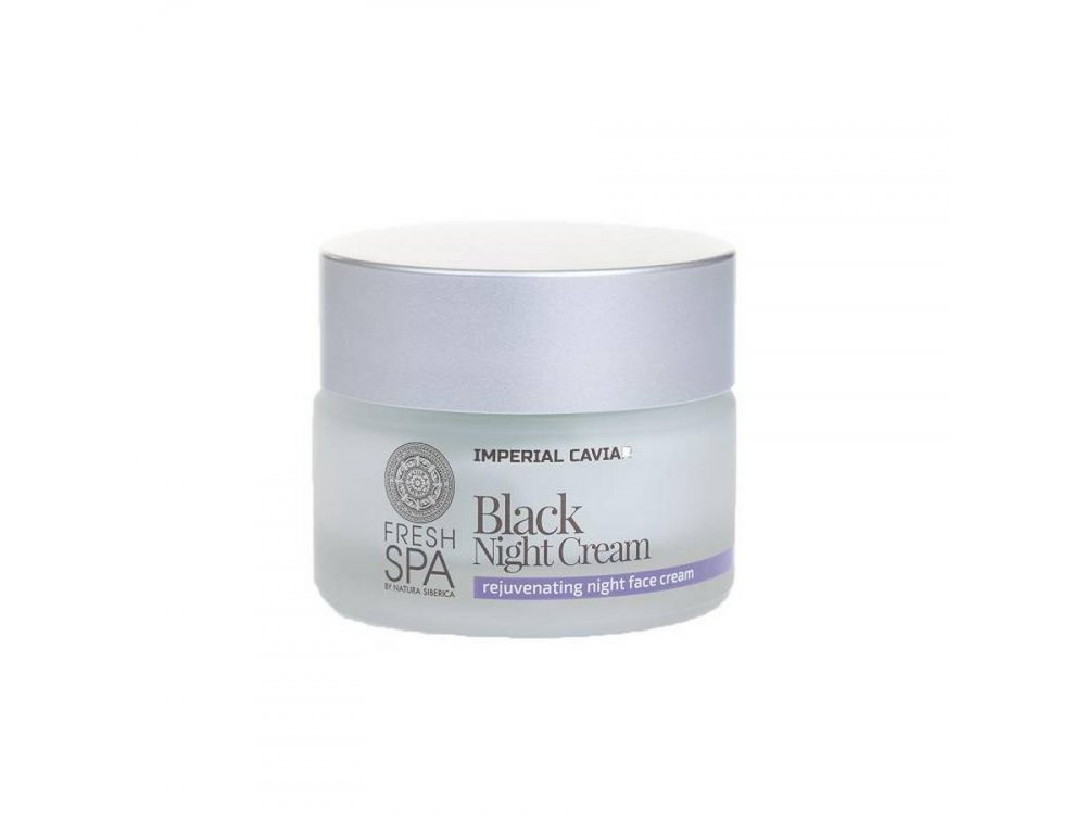 Natura Siberica Fresh Spa Imperial Caviar  Black Night face Cream, Αναζωογονητική κρέμα νύχτας προσώπου, 50 ml