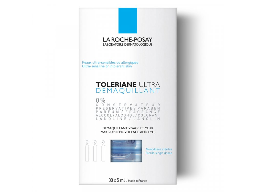 La Roche Posay Toleriane Ultra Demaquillant, Απαλό Ντεμακιγιάζ Ματιών για Ευαίσθητα Μάτια 30 x 5ml