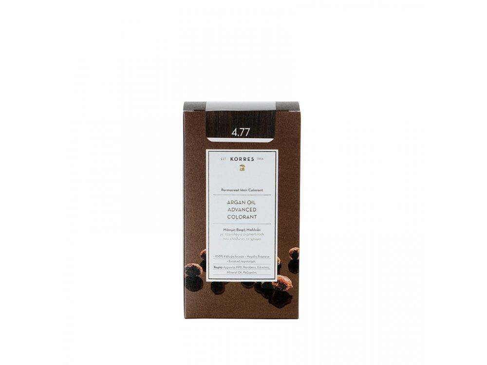 Korres Argan Oil Advanced Colorant, 4.77 Σκούρο Σοκολατί, 50ml