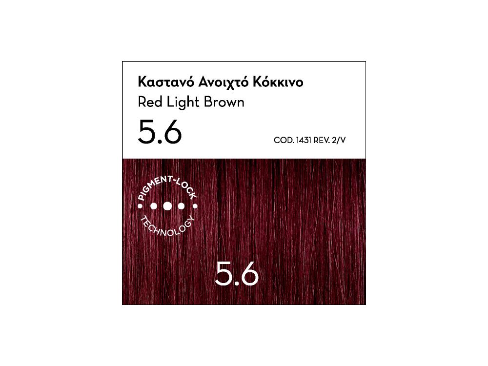 Korres Argan Oil Advanced Colorant, 5.6 Καστανό Ανοιχτό Κόκκινο, 50ml