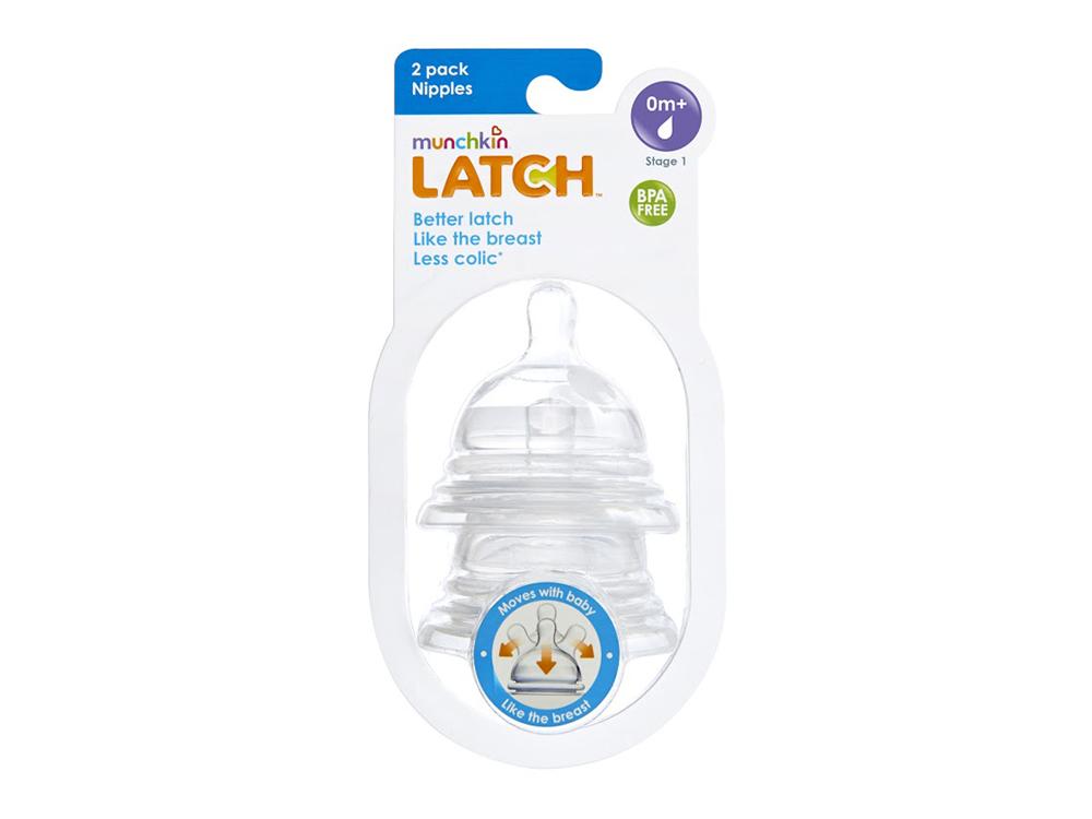 Munchkin Latch, Θηλή Φυσικής Κίνησης Stage 1 0m+, 2τμχ