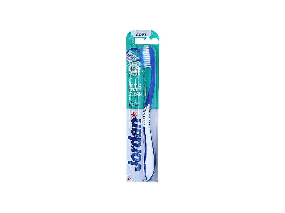 Jordan Deep & Gentle Clean Between Soft, Οδοντόβουρτσα με Μικροίνες Μαλακή, 1τμχ