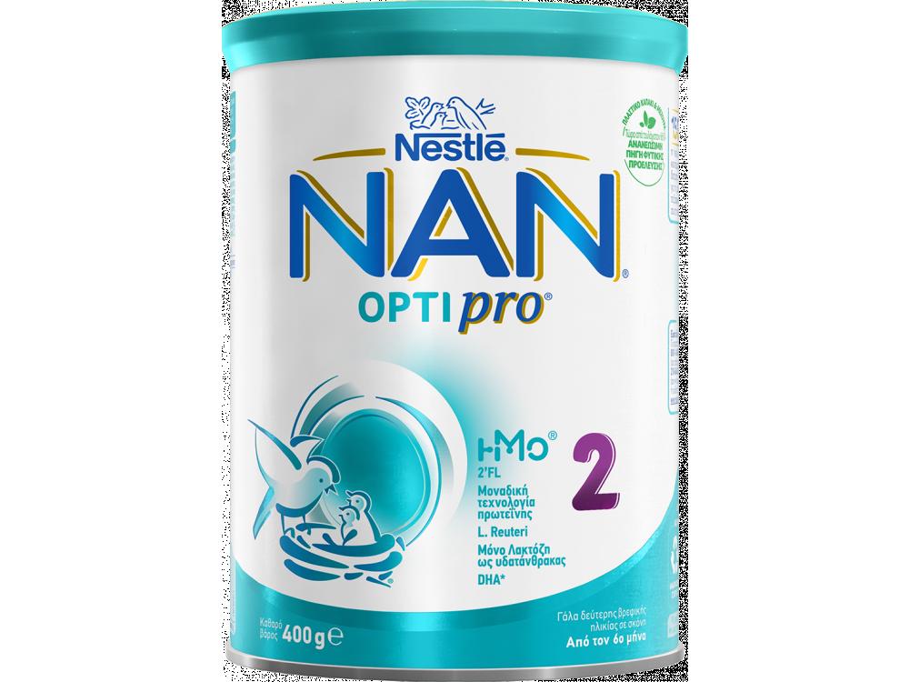 Nestle ΝΑΝ 2 Optipro, Γάλα 2ης Βρεφικής Ηλικίας με Μοναδικό Μίγμα Πρωτεϊνών, 400gr