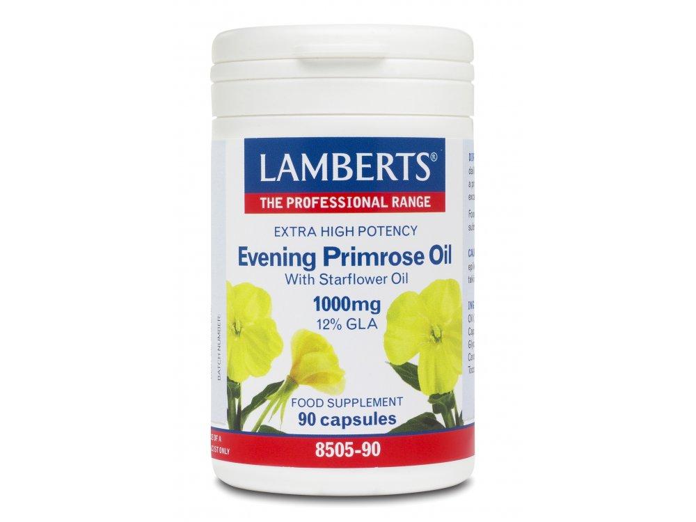 Lamberts Evening Primrose Oil +Starflower Oil 1000mg 90caps