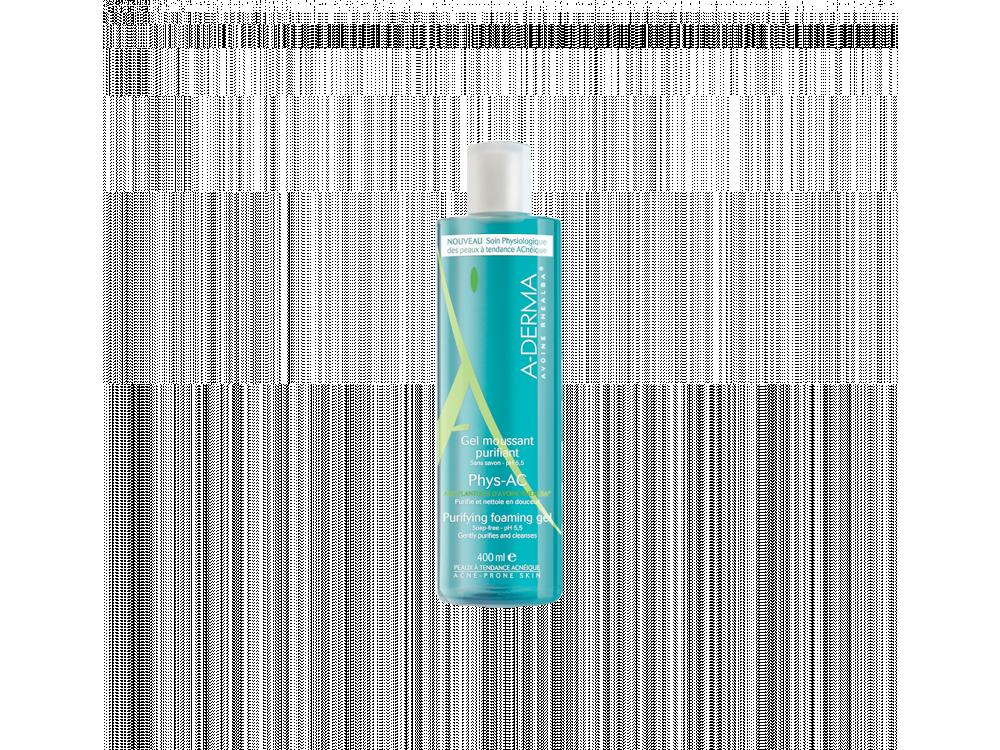 A-derma PHYS-AC Gel moussant purifiant - Εξυγιαντικό αφρίζον ζελ καθαρισμού 400ml