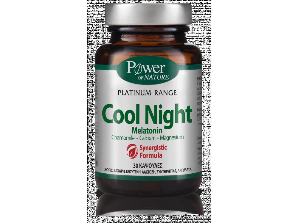 Power Health Classics Platinum Cool Night Φυσική Φόρμουλα κατά της Αϋπνίας, 30 caps