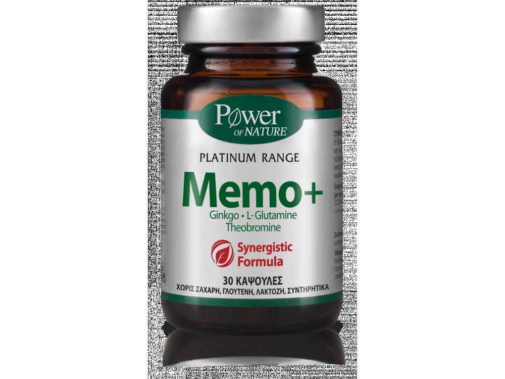 Power Health Platinum Range Memo+ Συμπλήρωμα διατροφής για την βελτίωση της μνήμης, 30 caps