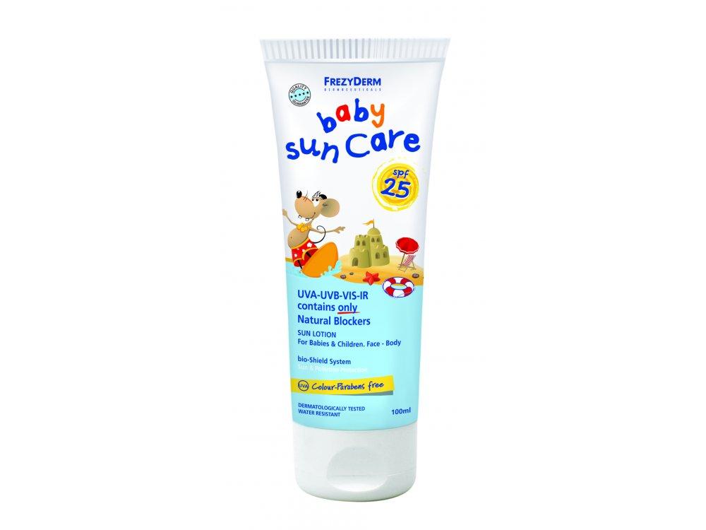 Frezyderm Baby Sun Care SPF25 Βρεφικό Αντηλιακό Γαλάκτωμα Προσώπου & Σώματος, 100ml