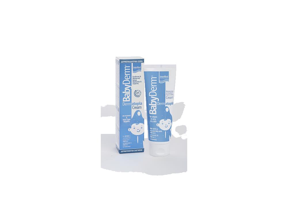 InterMed Babyderm Dermatopia Cream, Ενυδατική & Μαλακτική Κρέμα Προσώπου & Σώματος, 125ml