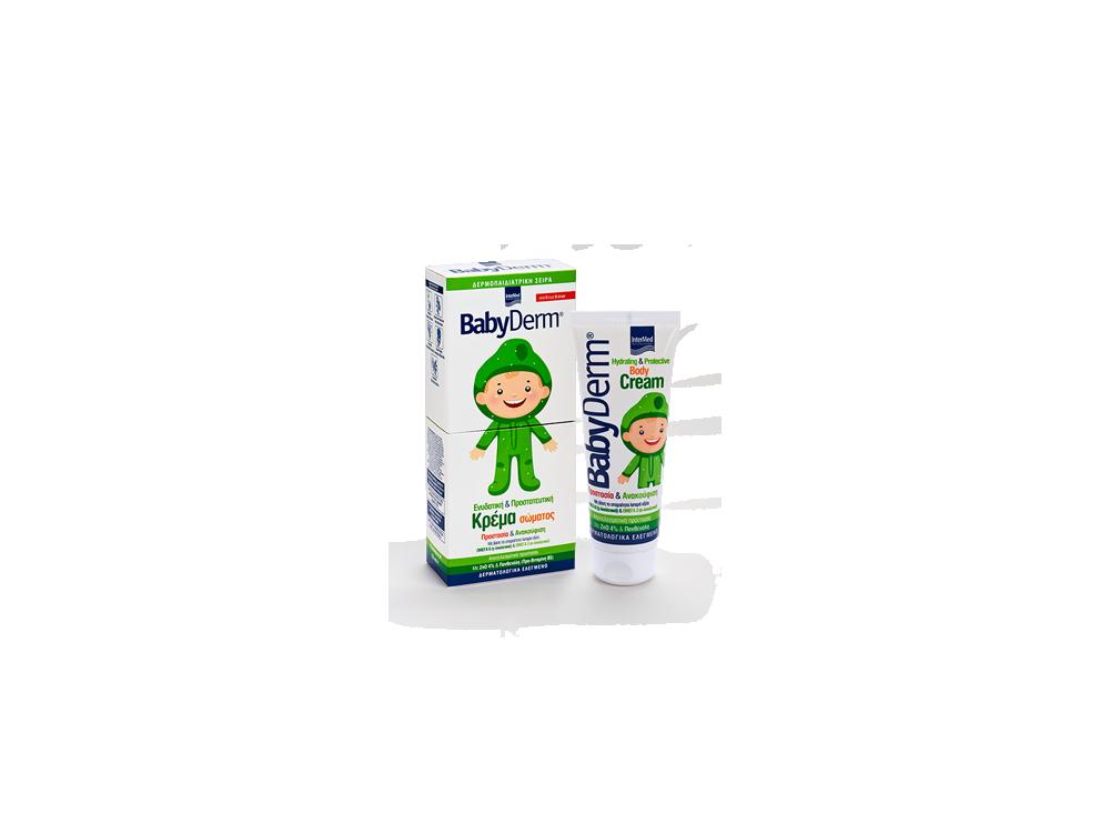 InterMed Babyderm Hydrating & Protective Body Cream, Παιδική Ενυδατική Κρέμα Σώματος, 125ml