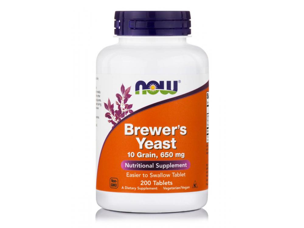 Now Brewers Yeast 10grain, 650mg 200veg.tabs