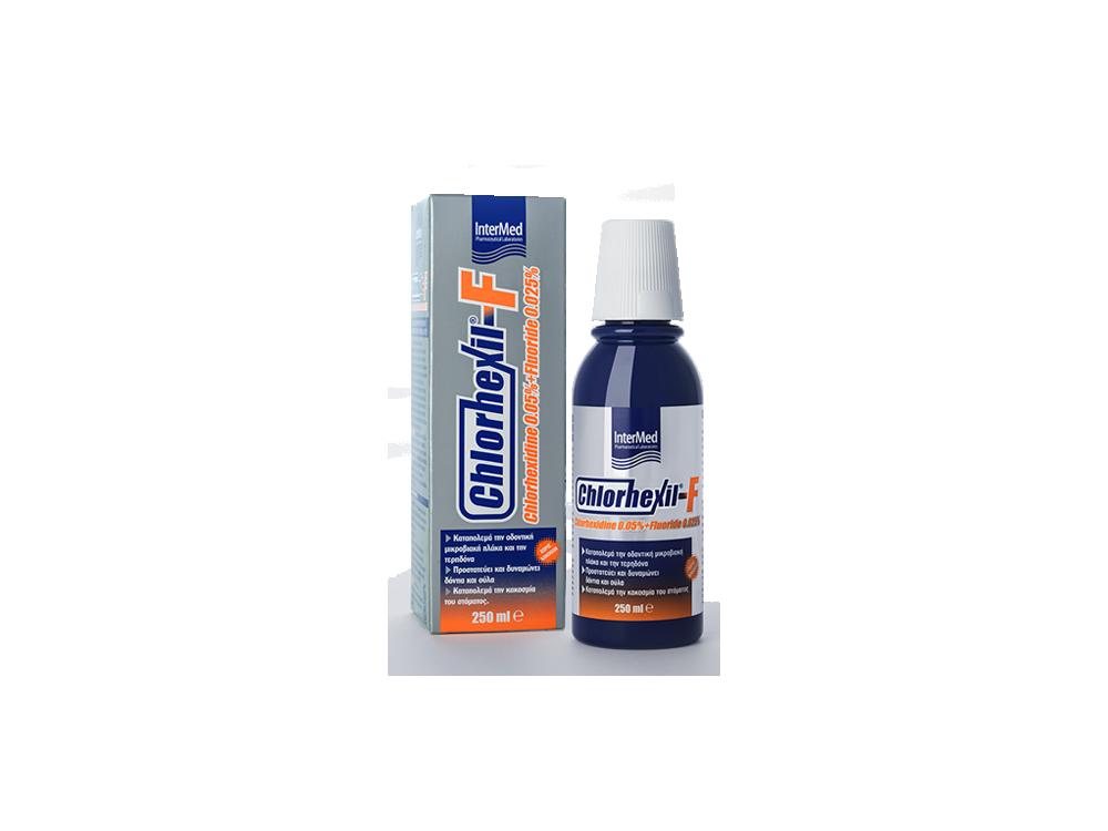 InterMed Chlorhexil-F Mouthwash, Καθημερινό Στοματικό Διάλυμα, 250ml