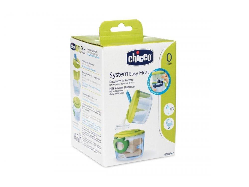 Chicco Δοσομετρητής Γάλακτος 2 σε 1 με αποσπόμενο διαχωριστικό για το γάλα, 0m+, 2τμχ