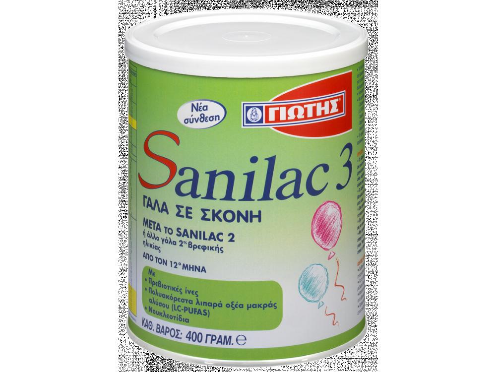 Γιώτης Sanilac 3, Γάλα Βρεφικής Ηλικίας12+ Μηνών, 400gr