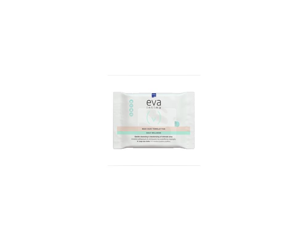 InterMed Eva Intima Maxi Size Towelettes, Μαντηλάκια Καθαρισμού & Απόσμησης της Ευαίσθητης Περιοχής, 12τμχ
