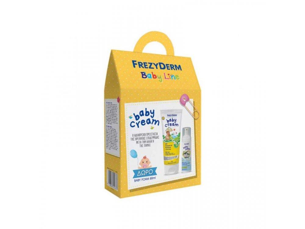 Frezyderm Baby Cream Απαλή, Αδιάβροχη Κρέμα Αλλαγής της Πάνας, 175ml & ΔΩΡΟ Baby Foam Απαλός Αφρός Καθαρισμού, 80ml