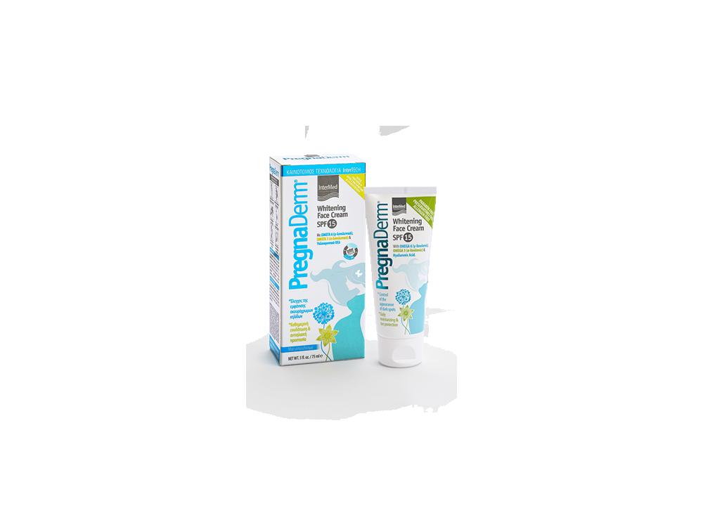 InterMed PregnaDerm Whitening Face Cream SPF15, Κρέμα Προσώπου για τις Πανάδες, 75ml