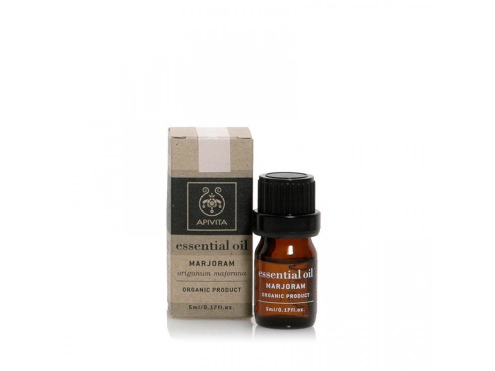 Apivita Essential Oil Marjoram Αιθέριο Έλαιο Ματζουρανα, 5ml