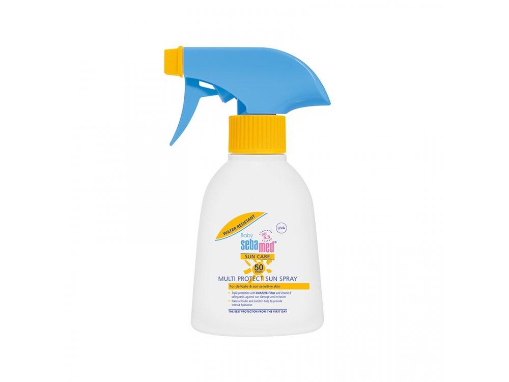 Sebamed Baby Sun Spray SPF50+, Αντηλιακό Γαλάκτωμα Προσώπου & Σώματος για Βρέφη & Παιδιά, 200ml