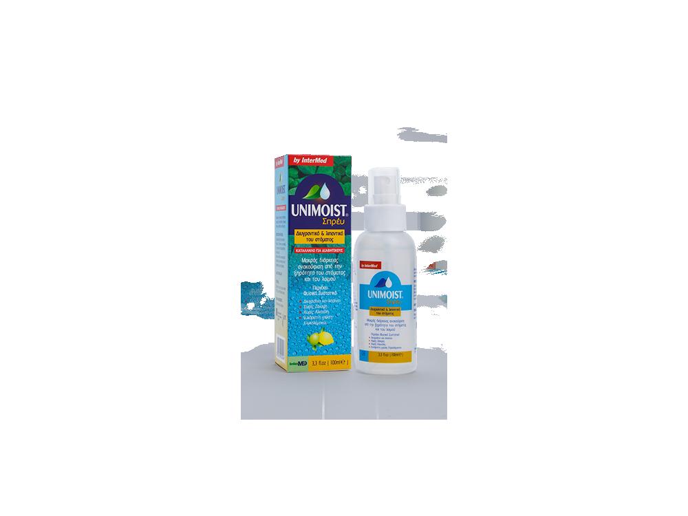 InterMed Unimoist Spray, Στοματικό Σπρέι για Καθημερινή Ανακούφιση της Ξηροστομίας, 100ml