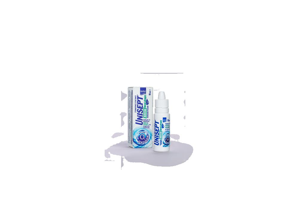 InterMed Unisept Buccal Oral Drops, Στοματικές Σταγόνες για Καθαρισμό & Επούλωση, 15ml