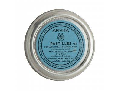 Apivita Pastiles, Παστίλιες με ευκάλυπτο & πρόπολη 45gr