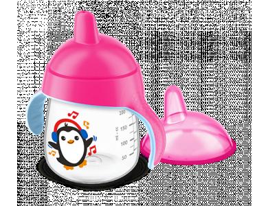 Philips Avent Κύπελλο Με Στόμιο 12m+  Ροζ Χρώμα, SCF753/07, 260ml