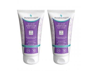 Pharmasept Tol Velvet Promo Pack Intensive Foot Cream Κρέμα Ποδιών για Σκληρύνσεις & Σκασίματα, 2 x 75ml