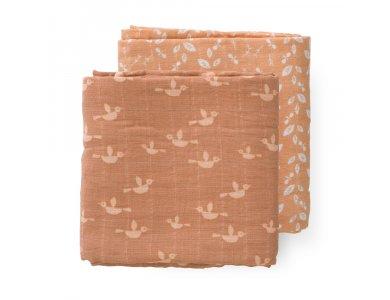 Fresk Πάνες αγκαλιάς- μουσελίνες Birds από οργανικό βαμβάκι, Sετ 2τμχ 60*70