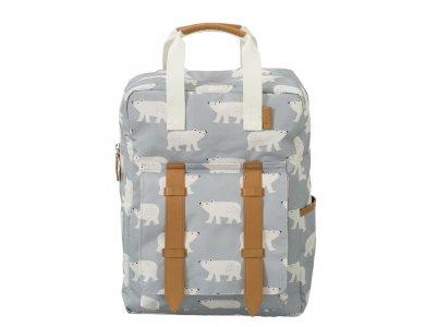Fresk Large Backpack, Σακίδιο-Τσάντα Πλάτης, Πολική Αρκούδα Μεγάλο Μέγεθος 36 x 26εκ., 1τμχ