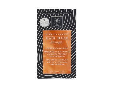Apivita Μάσκα Λάμψης & Αναζωογόνησης με Πορτοκάλι Hair Mask 20ml