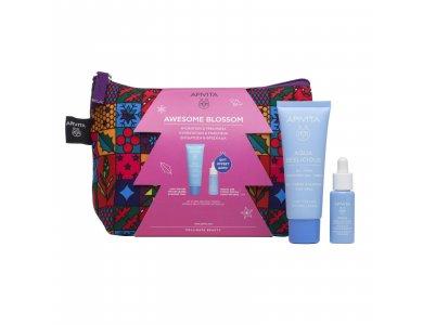 Apivita Promo Awesome Blossom Aqua Beelicious Oil Free Κρέμα Ενυδάτωσης Ελαφριάς Υφής, 40ml & Δώρο Booster Αναζωογόνησης & Ενυδάτωσης, 10ml