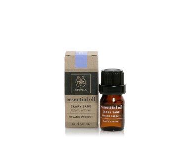 Apivita Essential Oil Clary Sage 100% Βιολογικό Αιθέριο Έλαιο Φασκόμηλο, 5ml