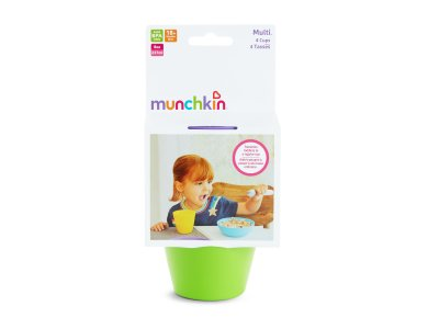 Munchkin 4 Multi Cups, Μοντέρνα Πολύχρωμα Ποτήρια 237ml, 4τμχ