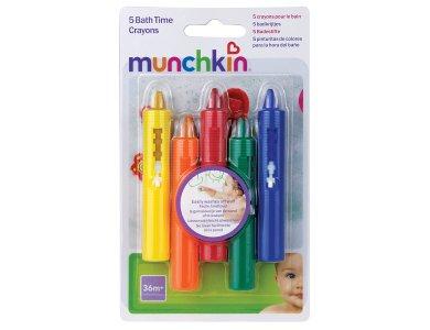 Munchkin Σετ Από 5 Πλενόμενους Μαρκαδόρους Μπάνιου