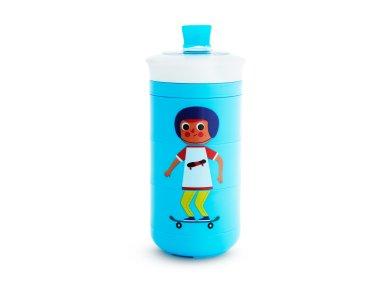 Munchkin Twisty Sippy Cup Blue, Εκπαιδευτικό Παγούρι 18m+, 266ml